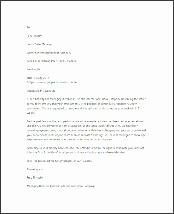 Employee Termination Letter Employee Termination Letter Template Hashdoc Perfect Samples Lease Contract Home Design Idea Pinterest Letter Templates Zip