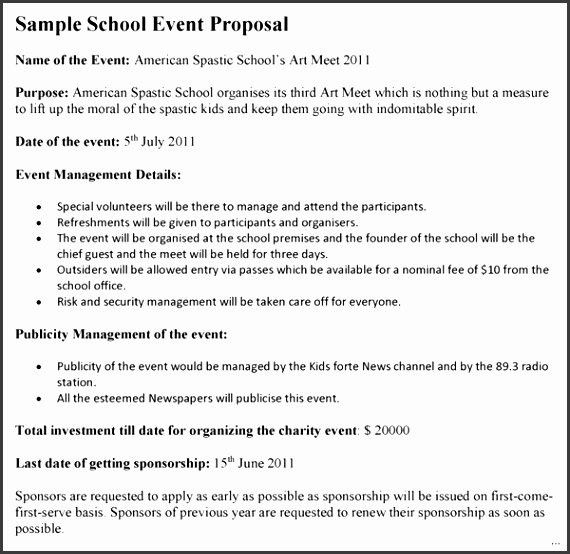 31 Event proposal template strong Event Proposal Template Present Day School with medium image