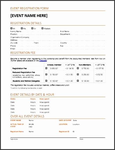 Template Registration Form