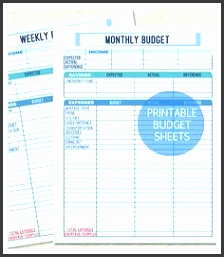 Printable Monthly and Weekly Bud Sheet Weekly Bud Template Spreadsheet for Personal Financial Planning