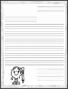 Creative Letter Writing Paper First Grade with Friendly Letter Template