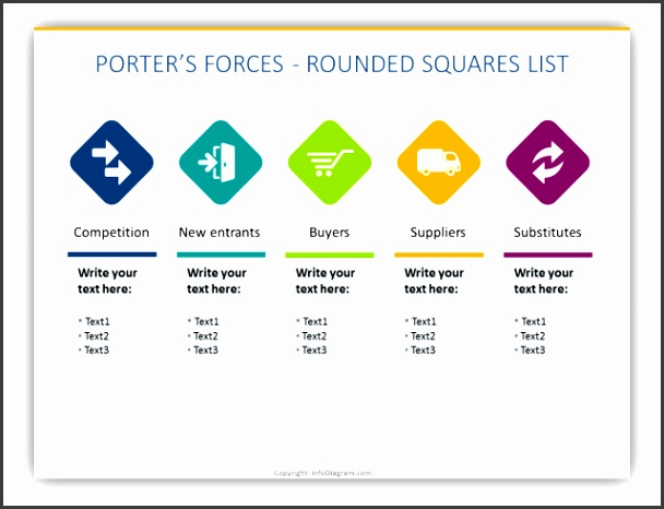 The diagrams and icons collection represents 5 Porter s Forces