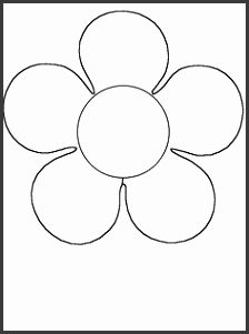 Flower Template For Kids To Cut Out Coloring Page High Quality