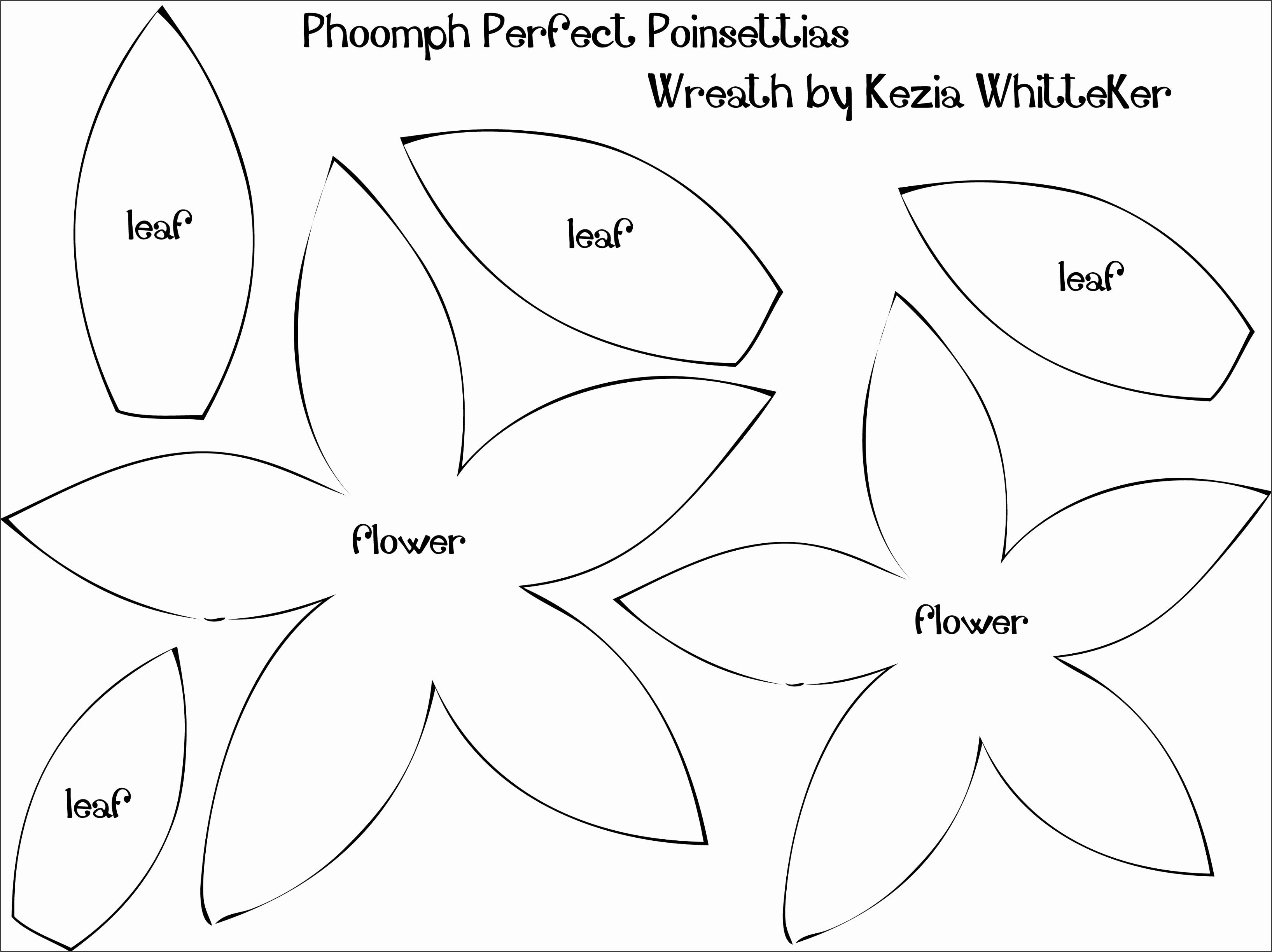 9 Best of Poinsettia Flower Template Printable Paper Poinsettia Petal Template Flower Shape Cut Out Template and Template for Felt Poinsettia