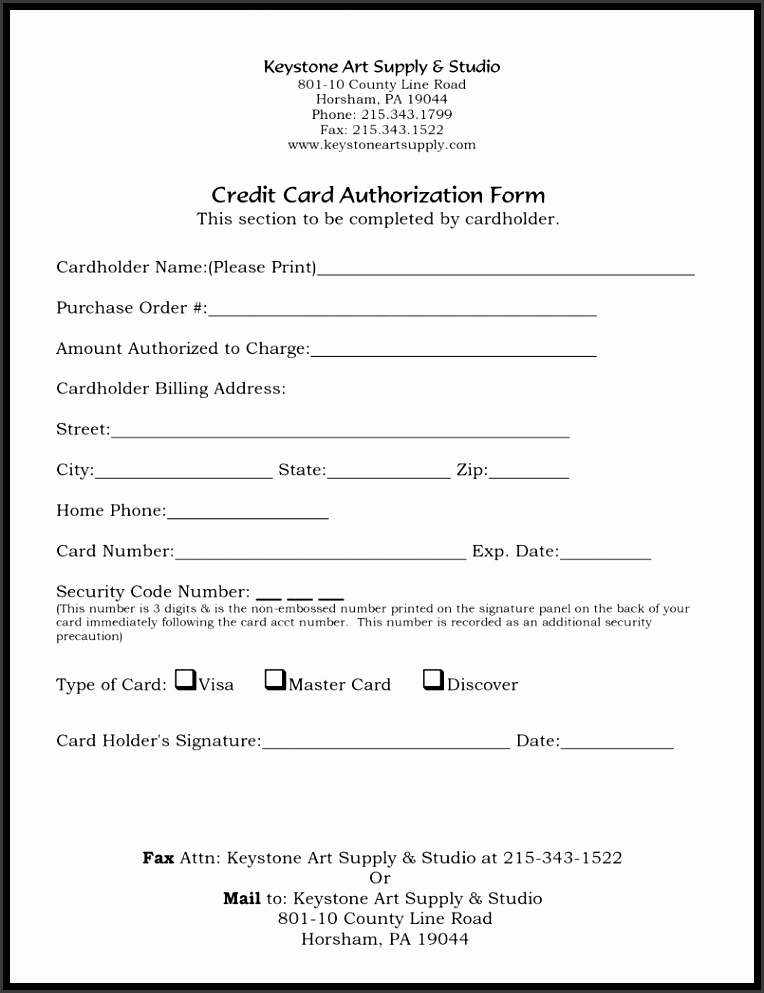 Residential Rental Application Free Authorization Forms Formats Template Word 2007 Authority Form Credit Card 5 Templates Examples In Excel Agenda