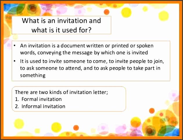 Informal Invitation Letter For Dinner Party Invitation Formal And Informal Chatterzoom