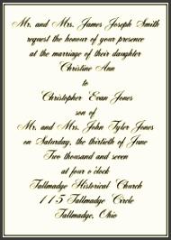 Formal Invitation Wording Sample