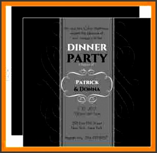 formal dinner invitation gray formal dinner invite 8058 0 big