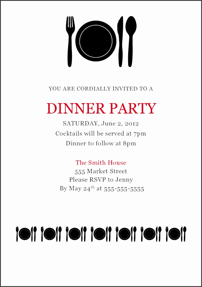 5 formal dinner invitation letter