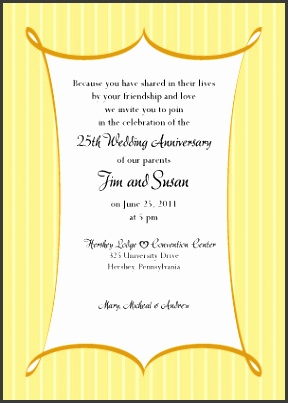 Anniversary Party Invitation Formal Stripes