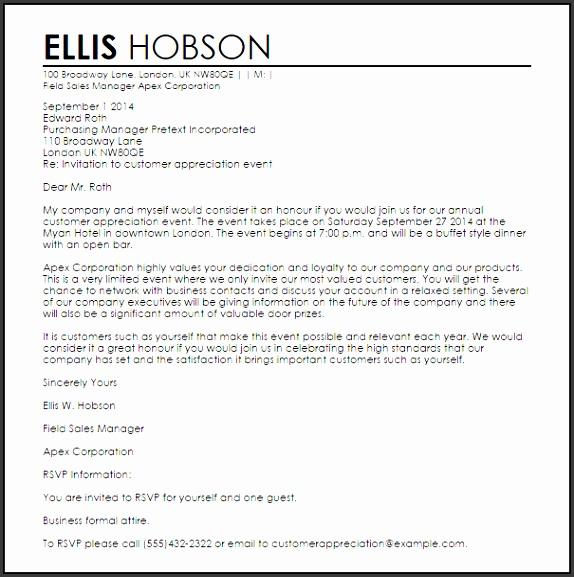 Invitation Letter Sample