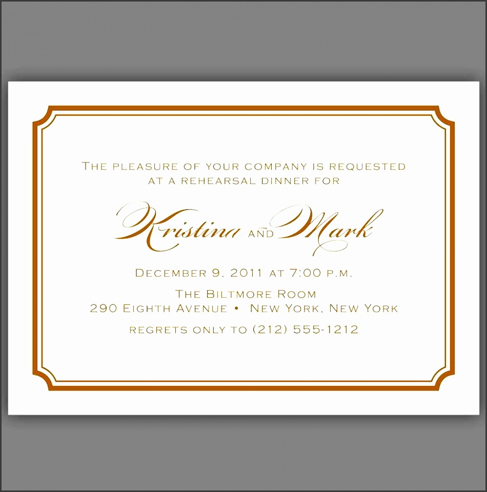 Template Formal Dinner Invitation Email