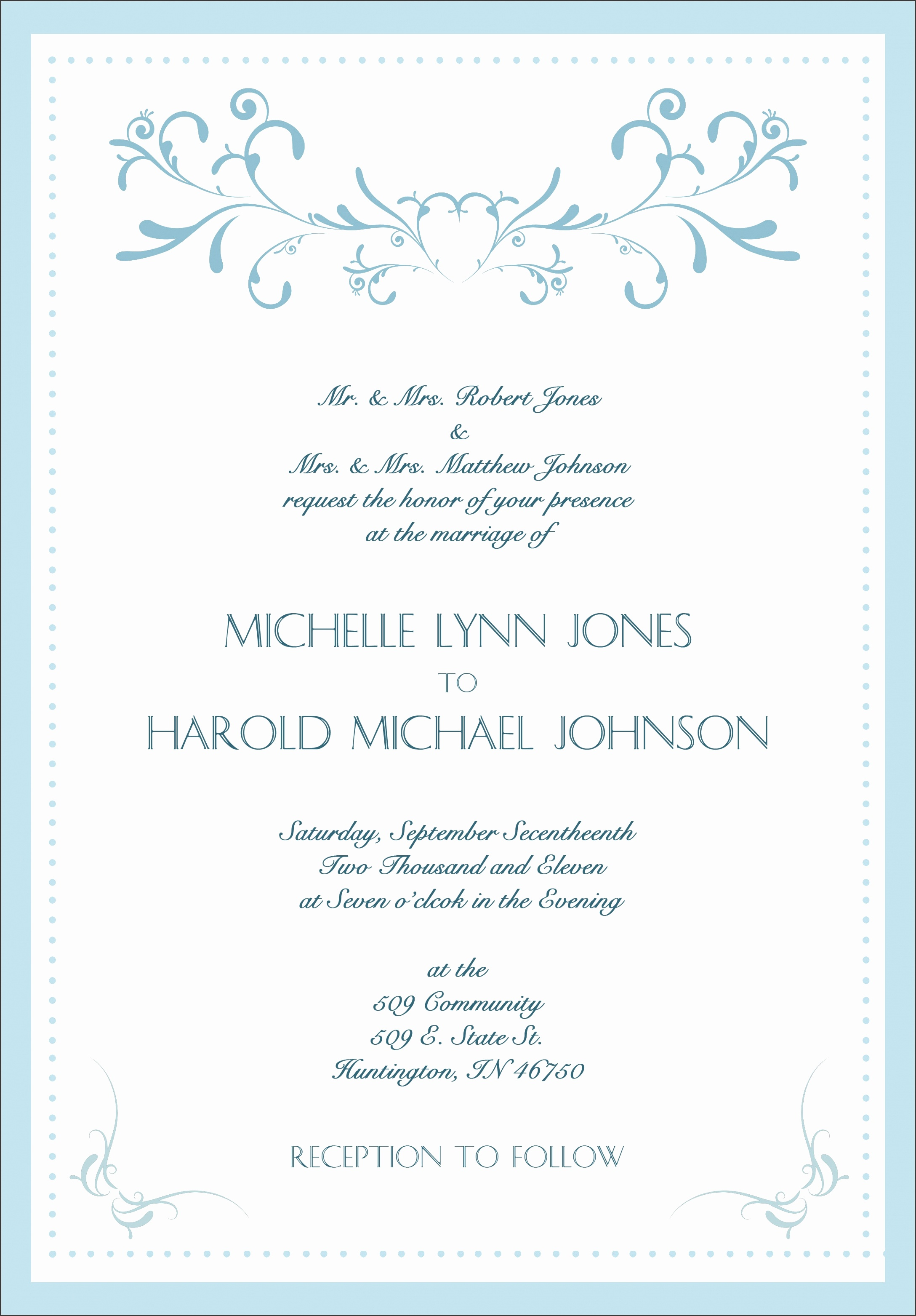 formal invitation cards