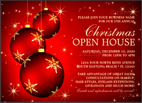 Business Christmas Open House Invitations Download