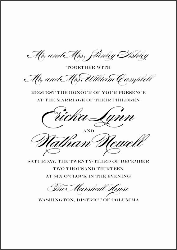 Wedding Invitation Wording With Parents Wedding Invitation Wording Both Parents Theruntime