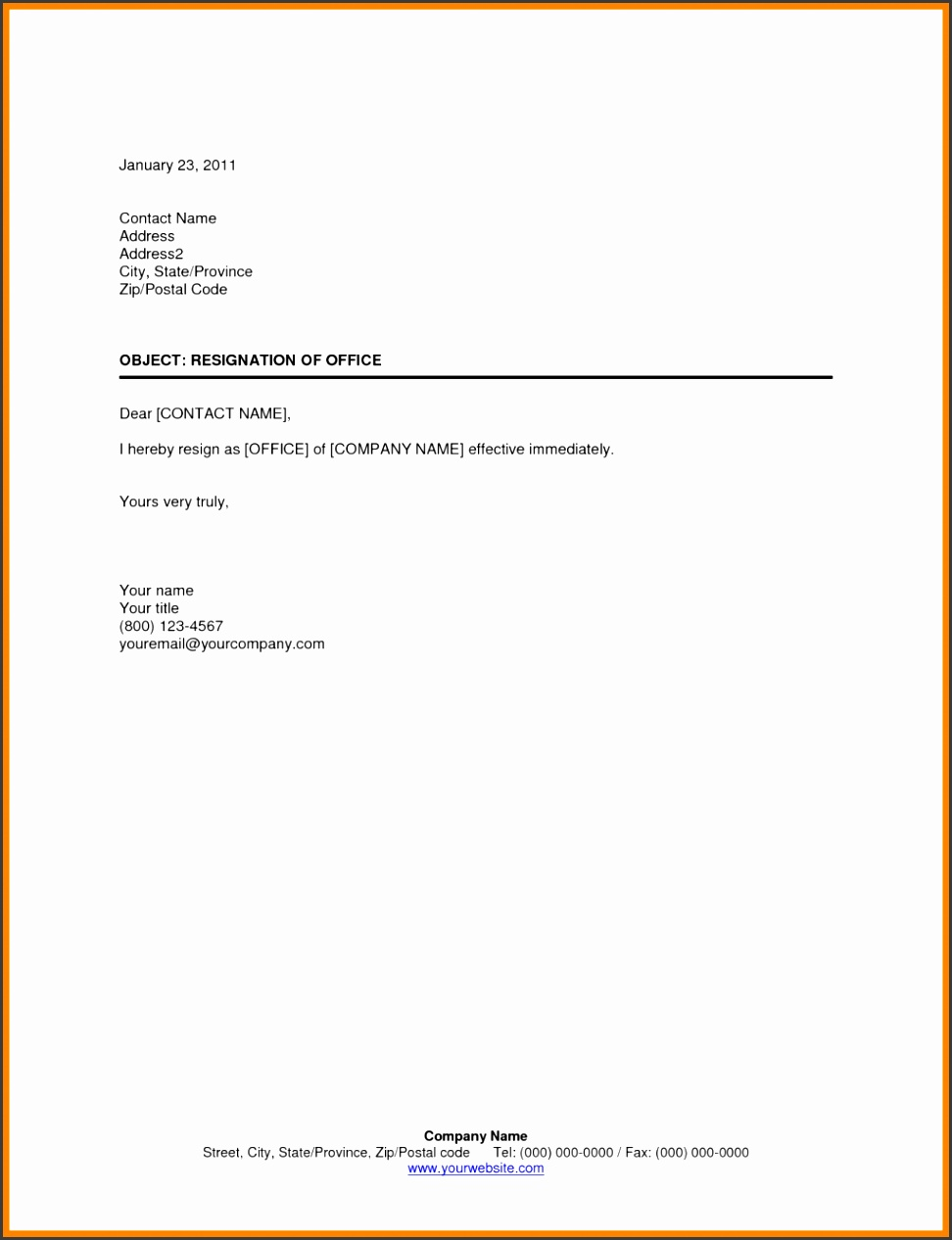 Resignation Letter Template Uk Cover Resume Formal How To Write