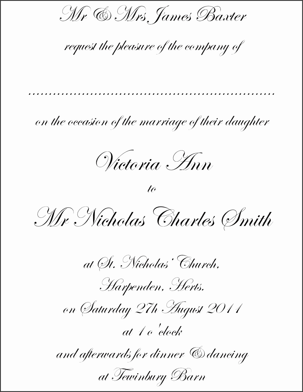 posh invitation wording