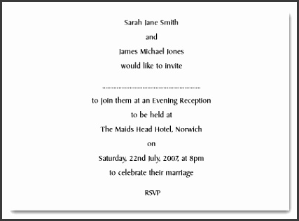 examples of formal and casual wedding invitation wording for a wedding