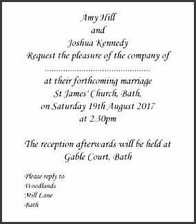 Formal Wedding Invitation Wording Bride & Groom Hosting