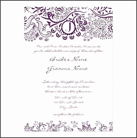 Wedding Invite Word Template Wedding Invitation Samples Wedding Invitation Verbiage