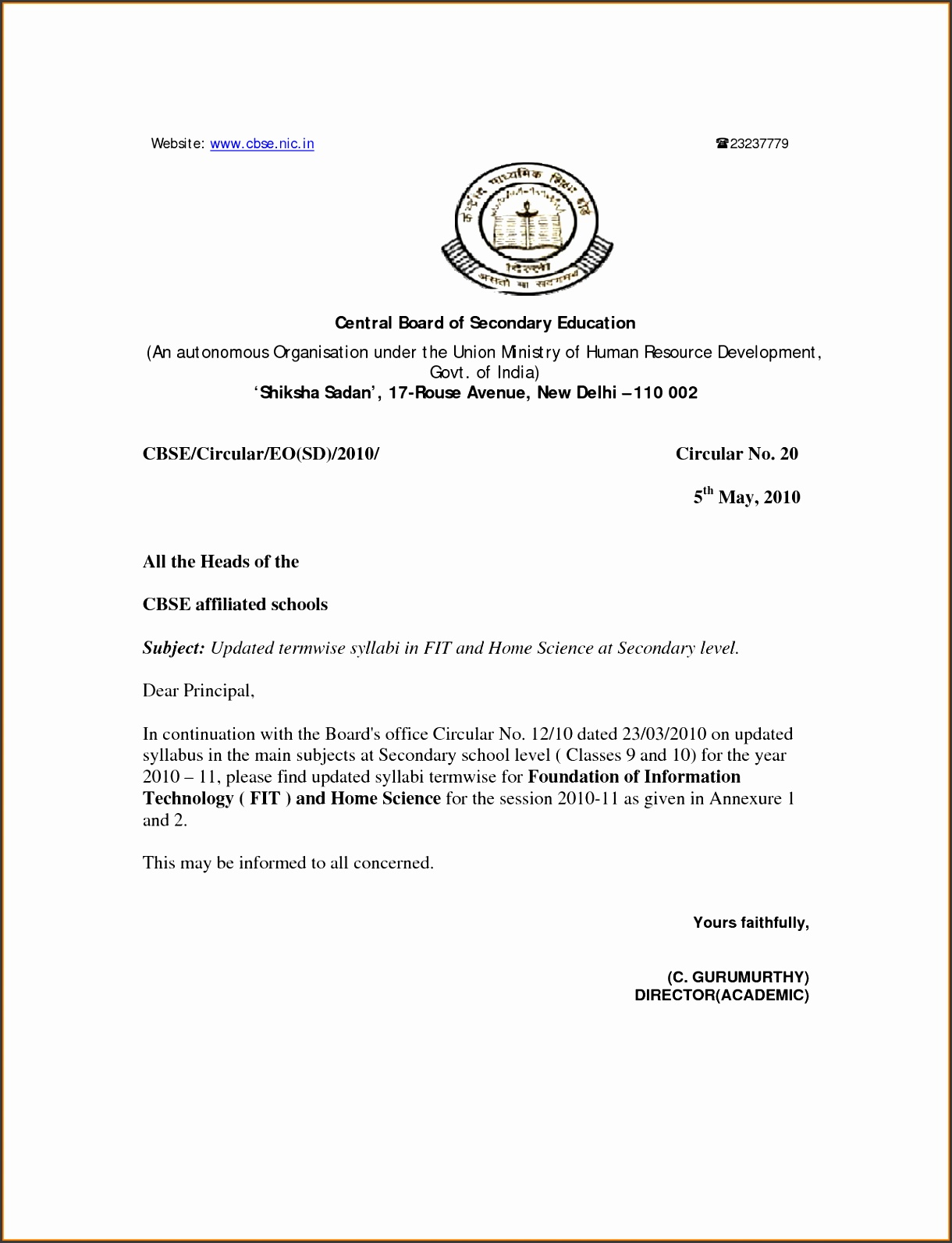 Formal Letter Format Cbse to pin on Pinterest