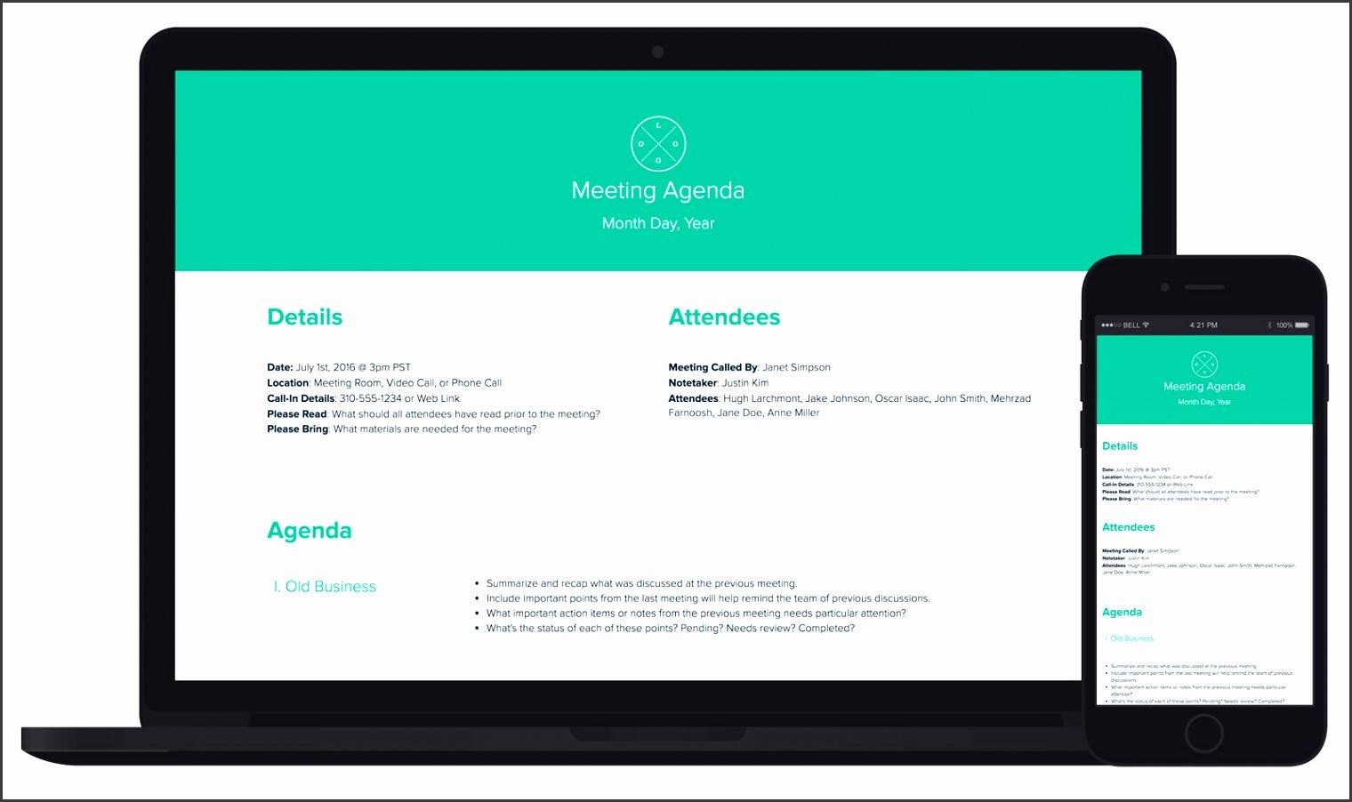 Meeting Agenda by Xtensio