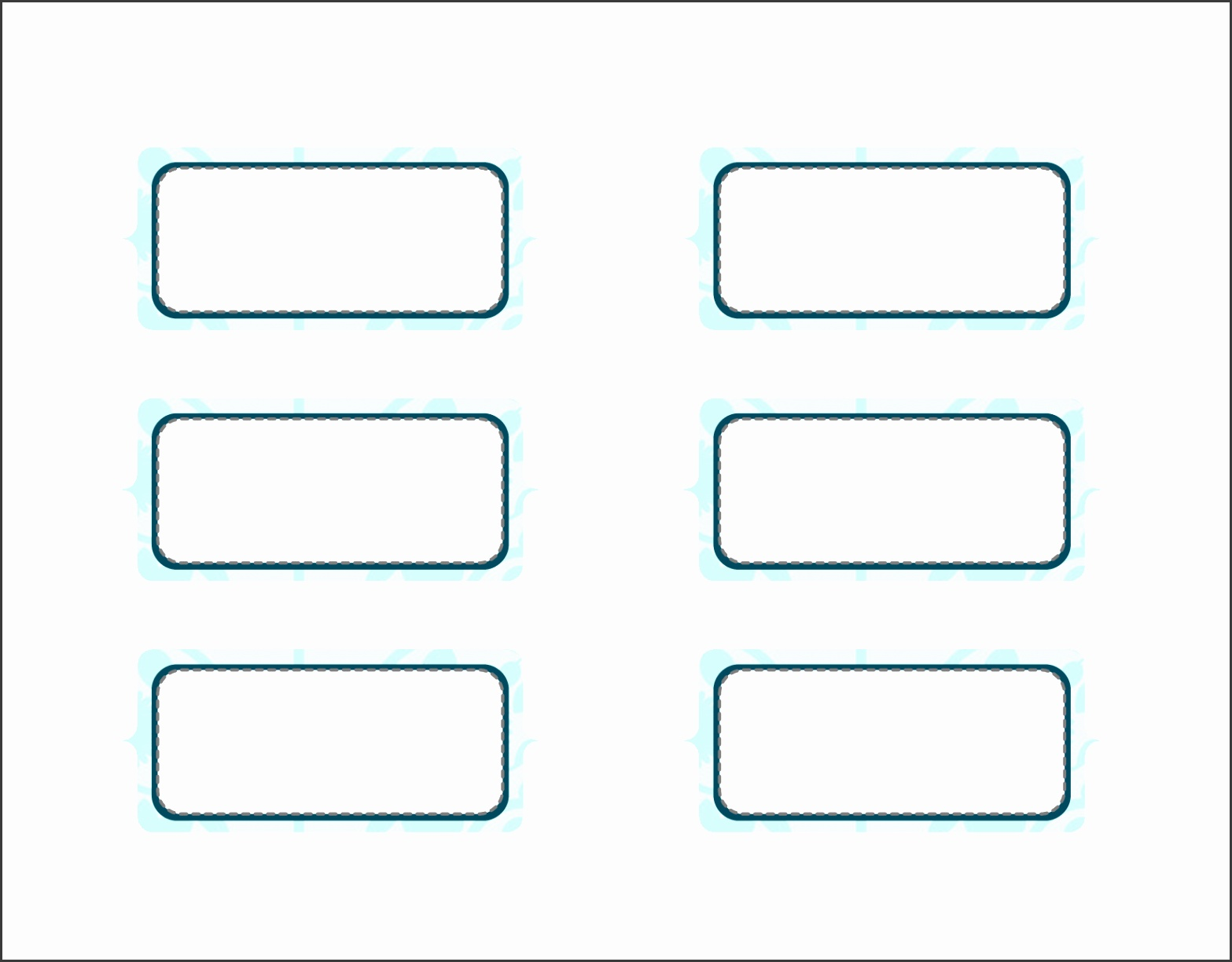 Printable Blank Label Template