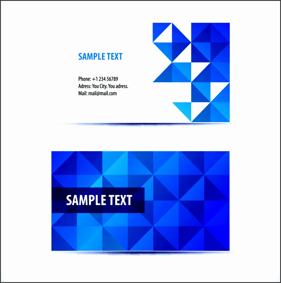 Simple pattern business card template 04 vector free vector