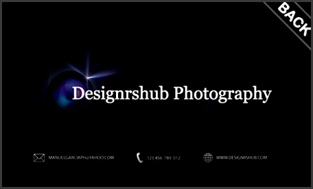 Free graphy Business Card Back