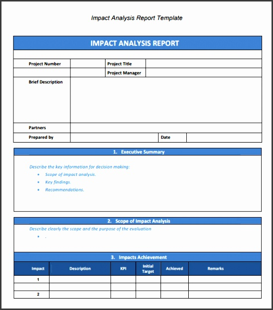 Analysis Report Template Example