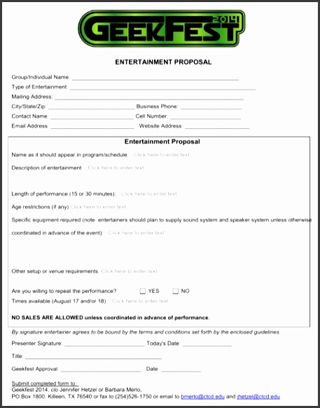 Entertainment Proposal Template Download Entertainment Business Proposal Template For Free