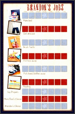 Free Printable Chore Chart template What a neat chart