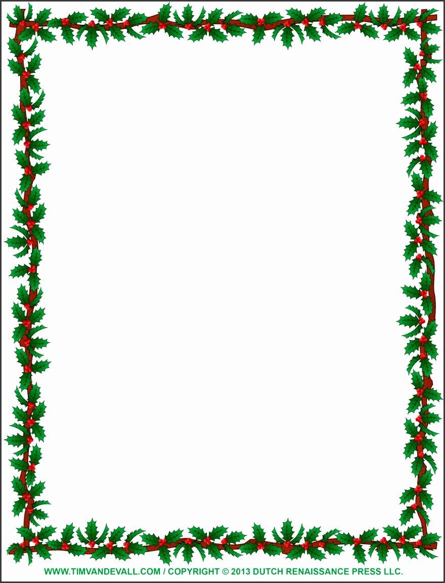 927x1200 christmas borders for word