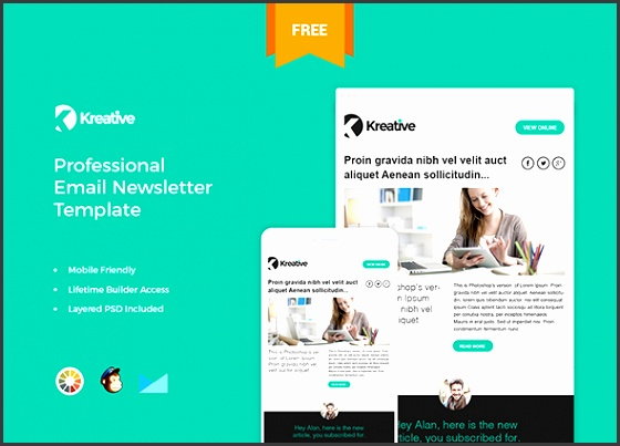 free newsletter 35 best responsive email templates free premium