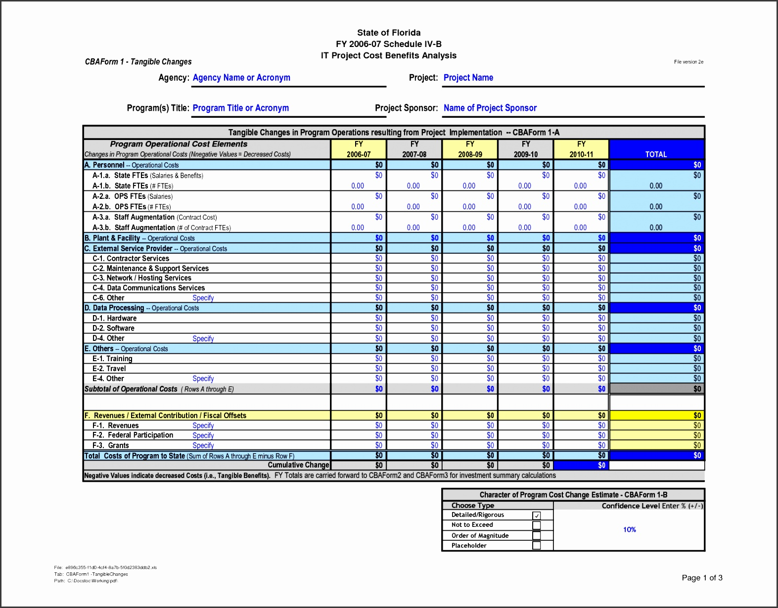 cost benefit analysis template excel 4 6 cost benefit analysis