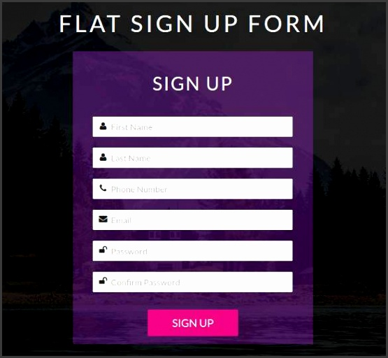 Html Form Template Free Html5 Signup Registration Forms 20 Free Html Css Format Download