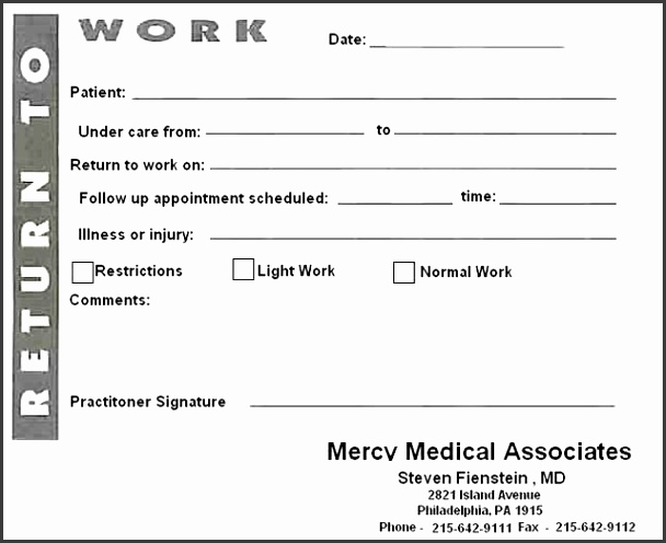 Best Doctors Note Template Ideas Doctors Note