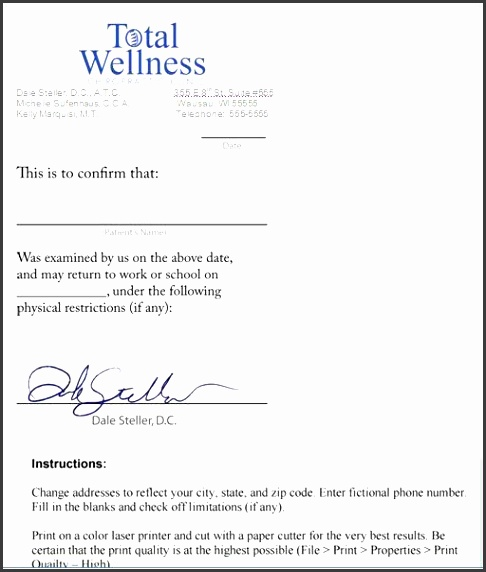 Doctors Excuse Note Free Download