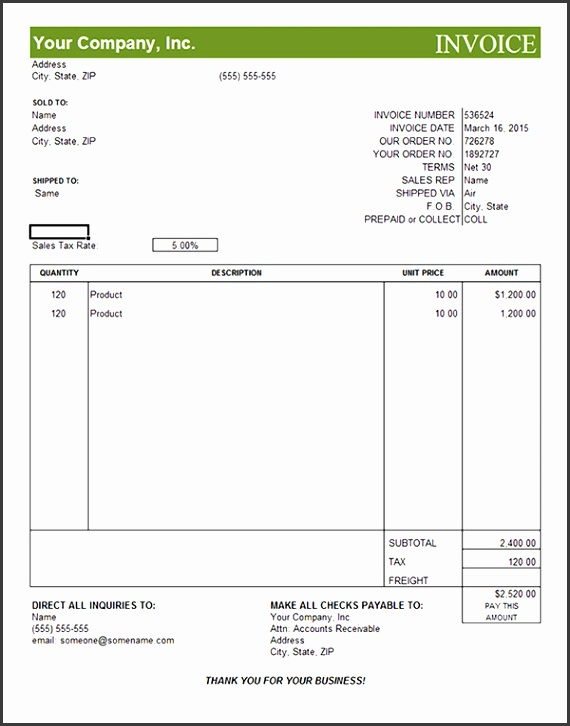 Editable Invoice 18 mercial Invoice Template Download Free Documents In Word