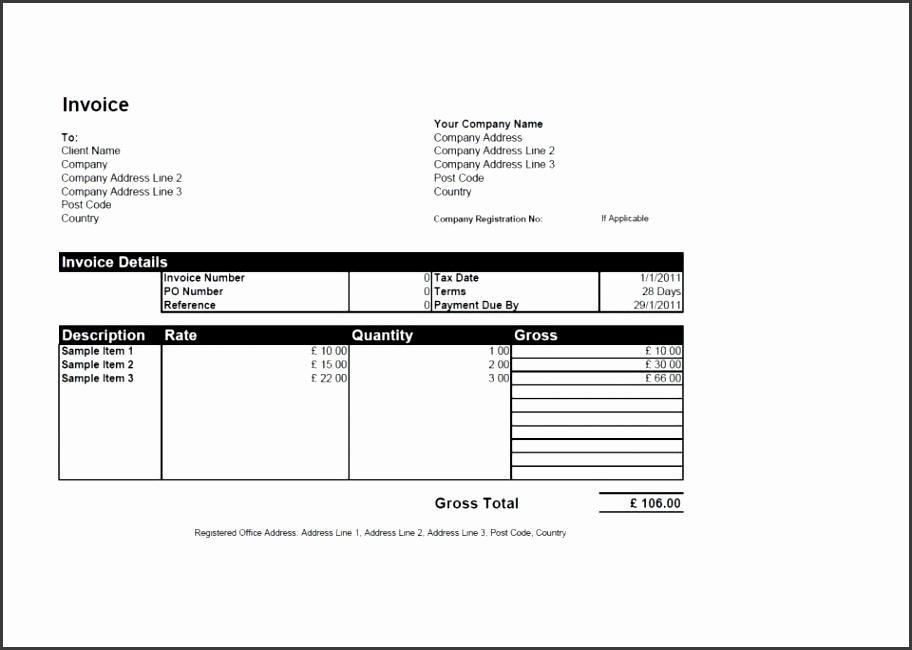 Editable Invoice Template Sample Screenshot Invoiceberry 5 Free Templates For Word Excel Open fice Printable 960
