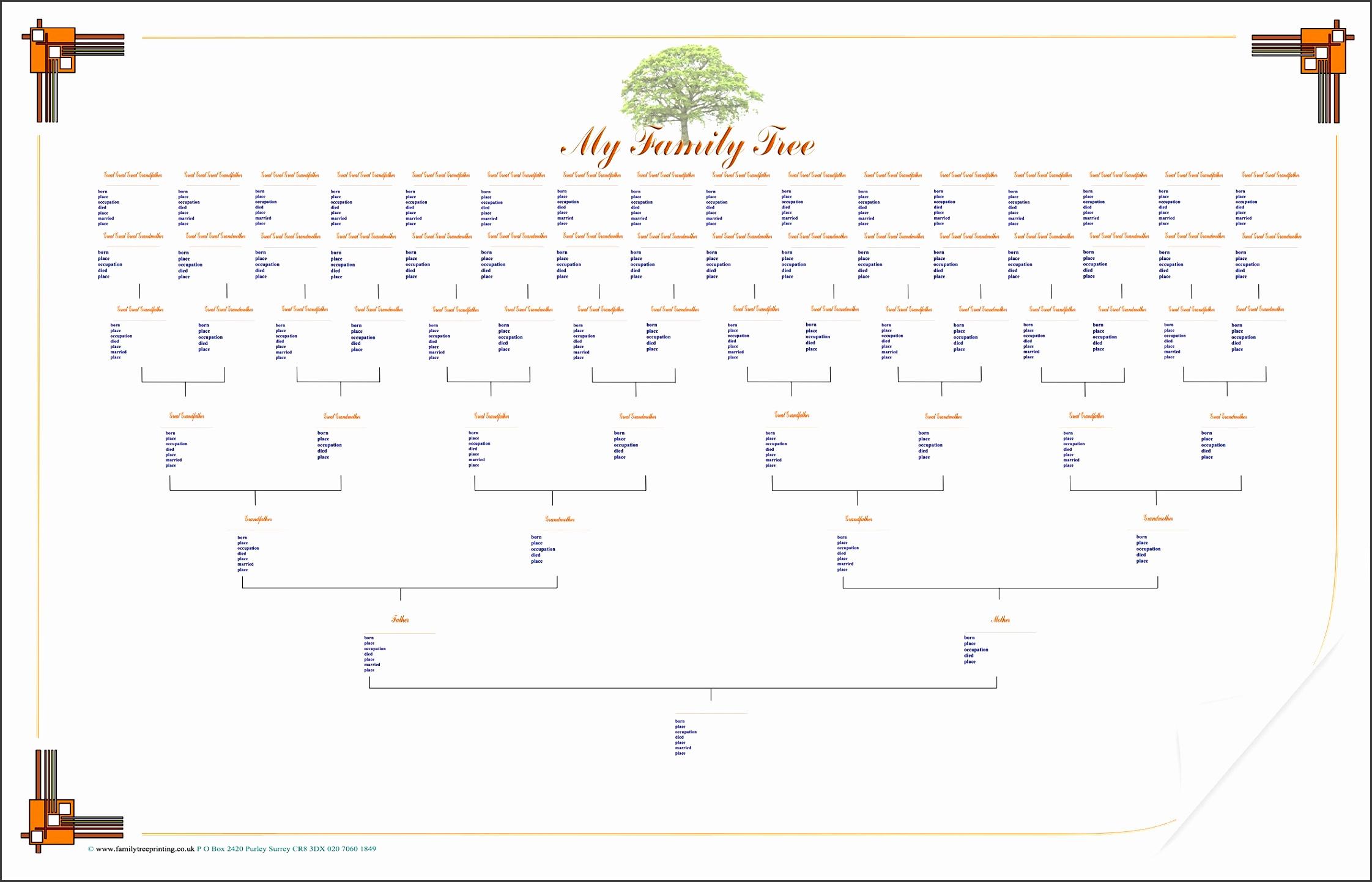Blank Family Tree Chart