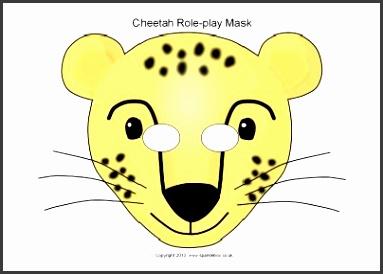 Cheetah clipart mask 3