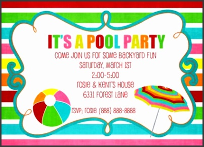 Free Printable Pool Party Invitation Templates Free Printable Pool Party Invitations For Your Inspiration Templates