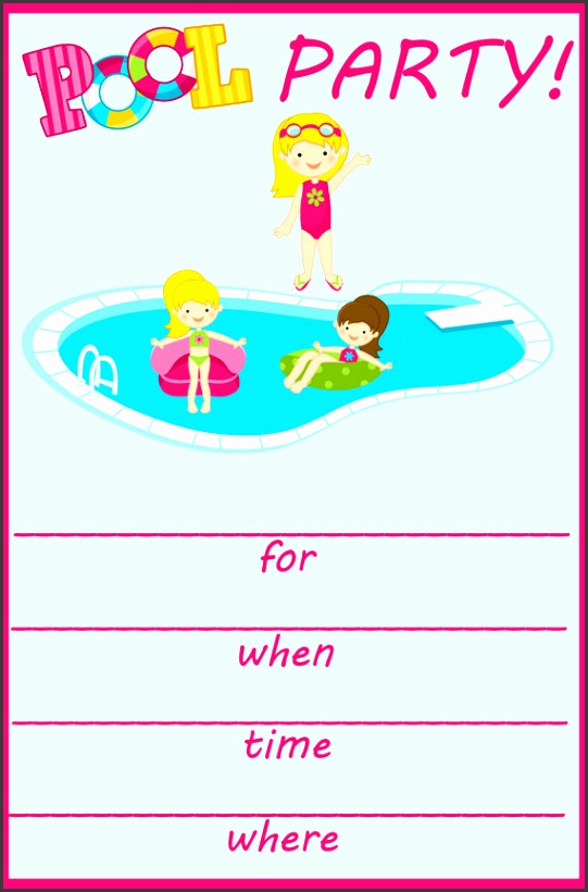 Pool Birthday Party Invitations Templates Free Pool Party Birthday Invitation Templates Free Ideas