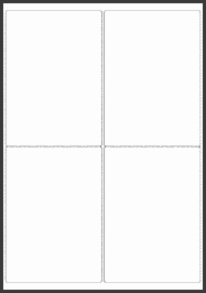 EU 99 1mm x 139mm Blank Label Template for Microsoft Word