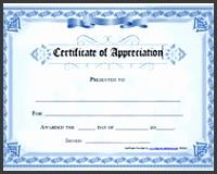 free certificate of appreciation
