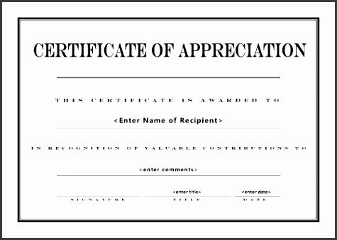 appreciation templates free printable certificate of appreciation