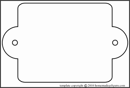 double punched tag template
