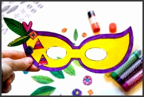 Free Mardi Gras Mask Template from Made It Mommy