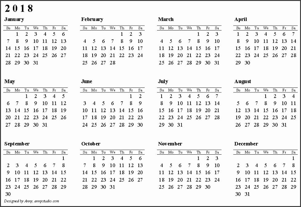 free calendar 2018 to print 8